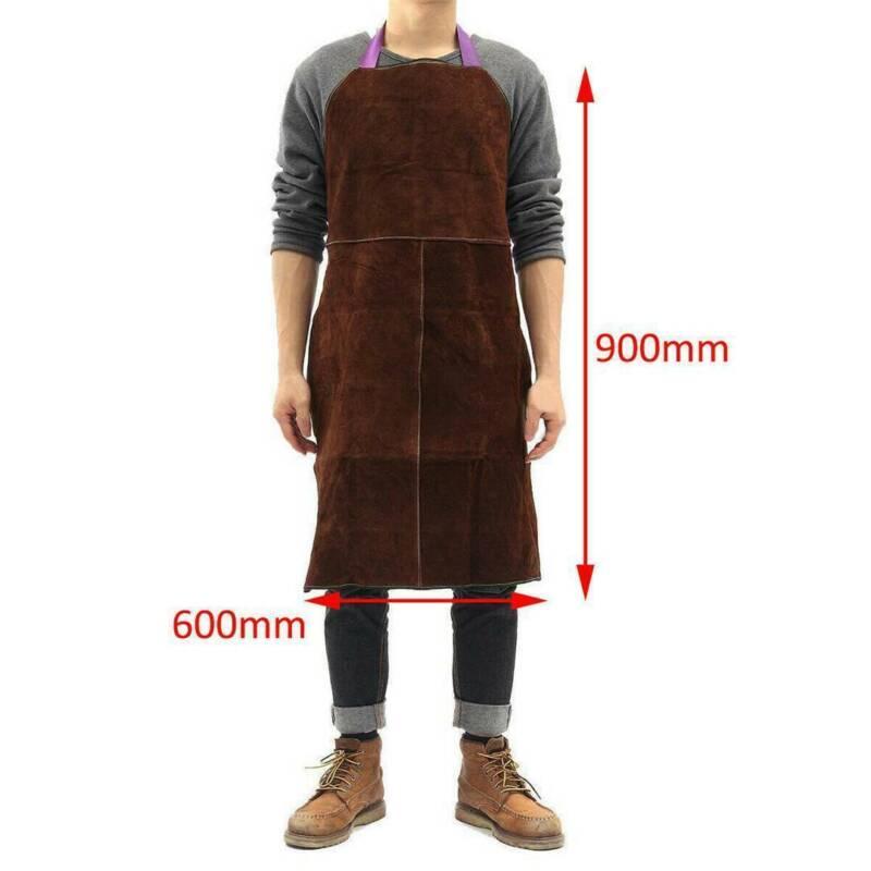 Schweißerschürze Schürze Spaltleder 60*90 cm Schweißschutz Arbeitsschürze Leder