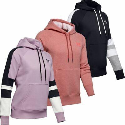 Under Armour Ladies UA 2019 Hoodie Rival Fleece LC Logo Novelty Womens Hoody ()