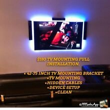 $180 TV WALL BRACKET MOUNTING ANTENNA INSTALLATION Berwick Casey Area Preview