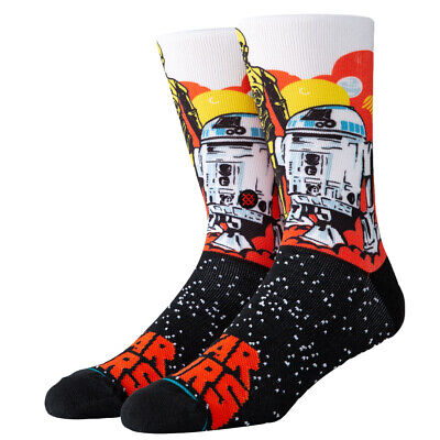 "Stance ""Droids"" Classic Crew Socks (Orange) Men's Star Wars Sock"