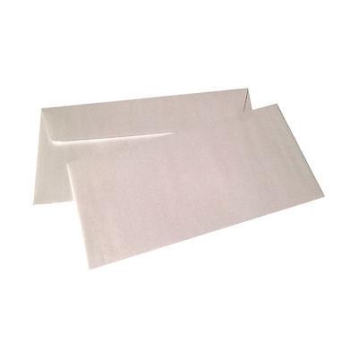50 Stück Perlmutt Weiss Metallic Pollen Clairefontaine DIN Lang Briefumschläge