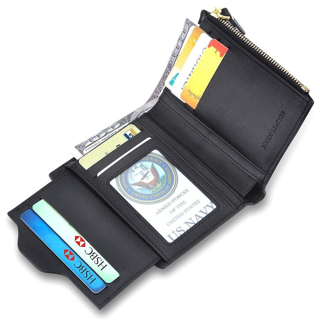 1559d0b485 ... Portafoglio Uomo Nero Pelle + Porta Patente Carte Credito e Identità  Rimovibile ...