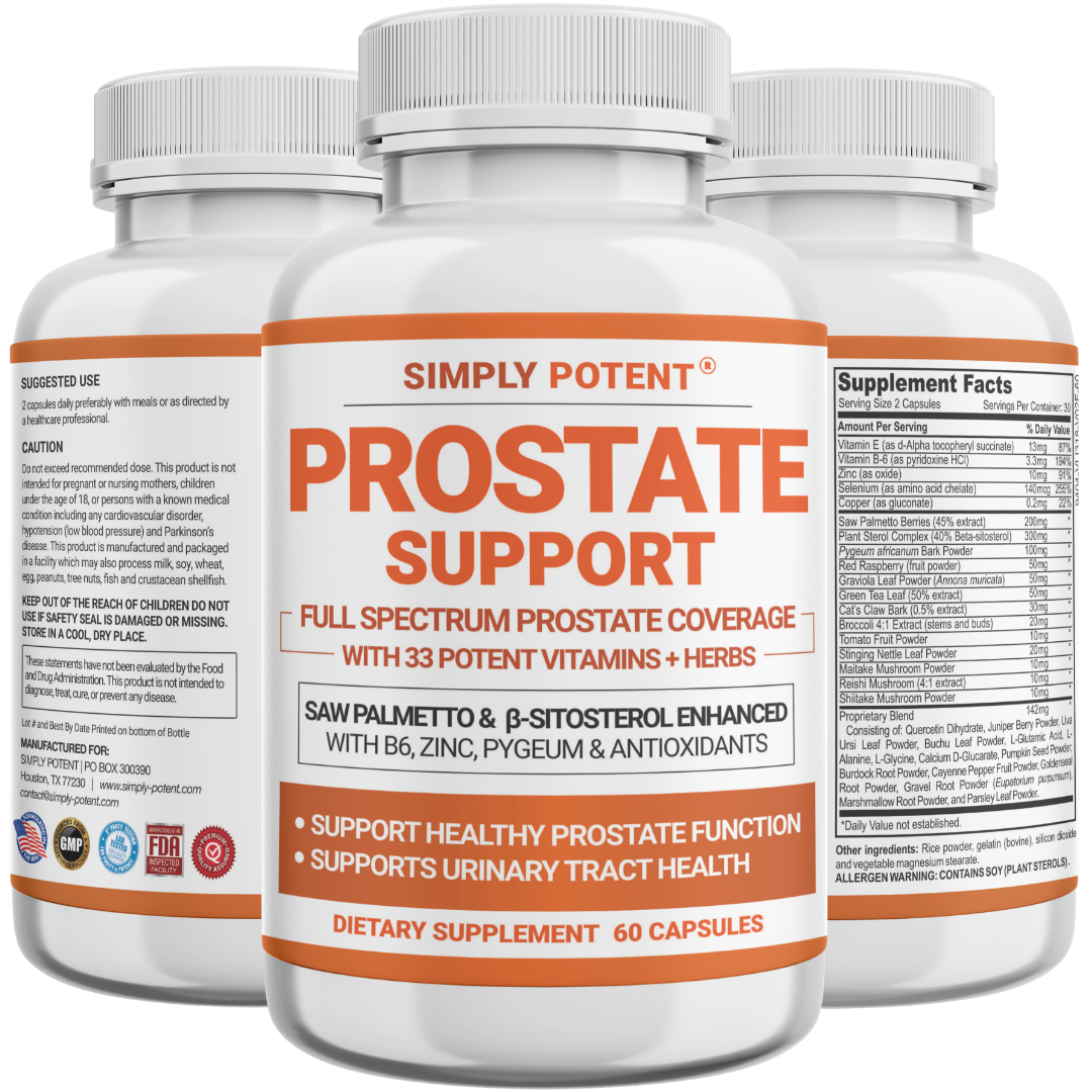 Prostate Support Supplement w/ Saw Palmetto Beta Sitosterol Zinc Prostate 1