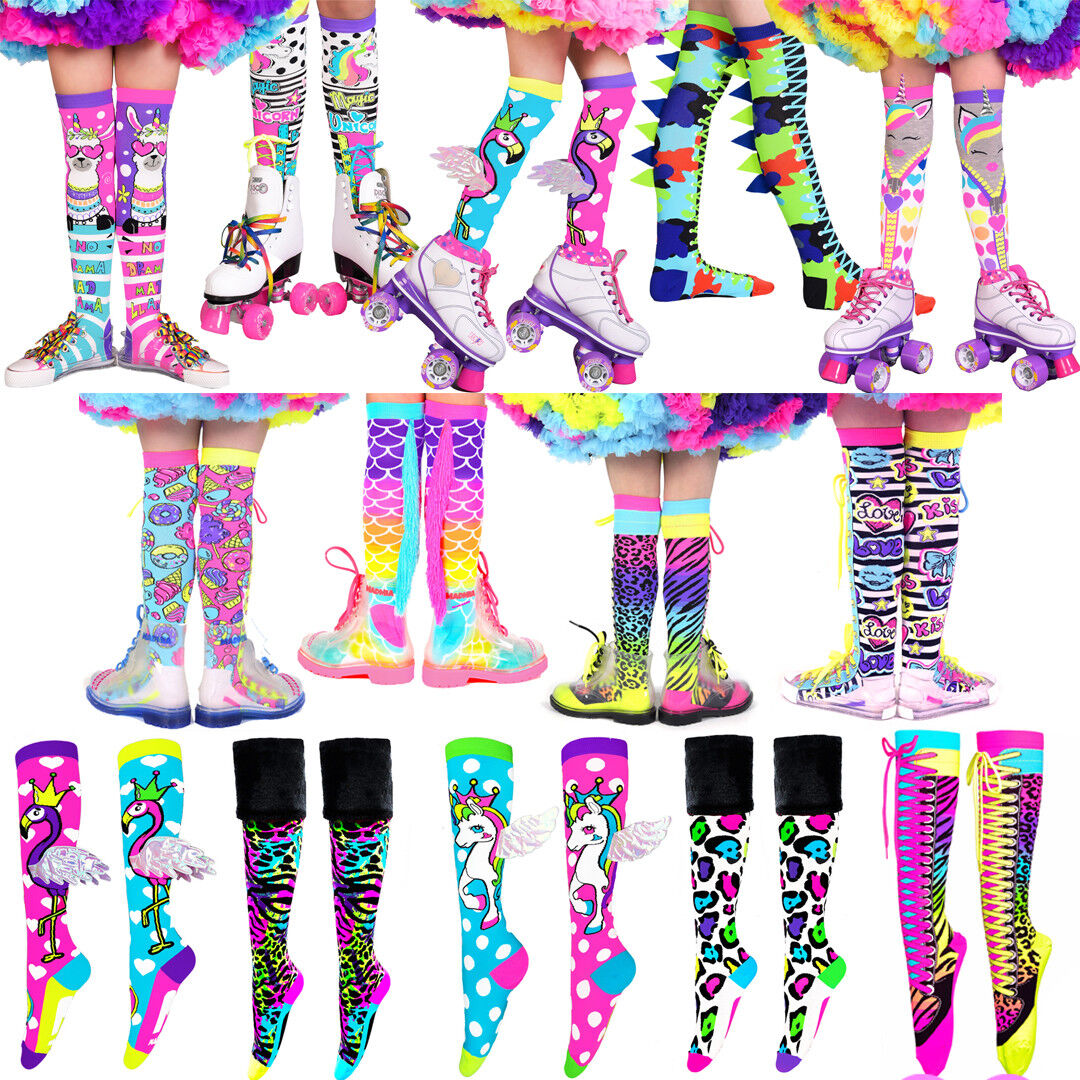 MADMIA SOCKS Girls + Adults Knee High Colorful Crazy Funky C