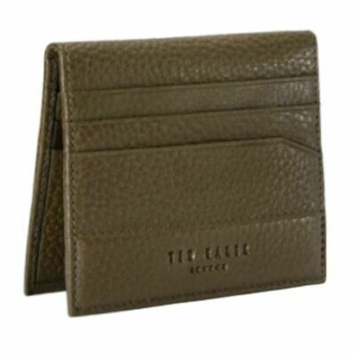 Ted Baker Men's Steemer Bi-Fold Leather Slim Card Case Wallet, Olive NIB Baker Bi Fold Wallet