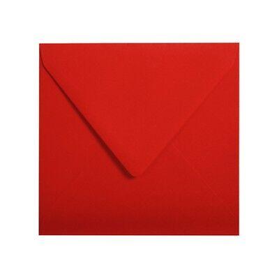 20 Kirschrot 140x140 mm Quadratische Briefumschläge Pollen Clairefontaine Rot