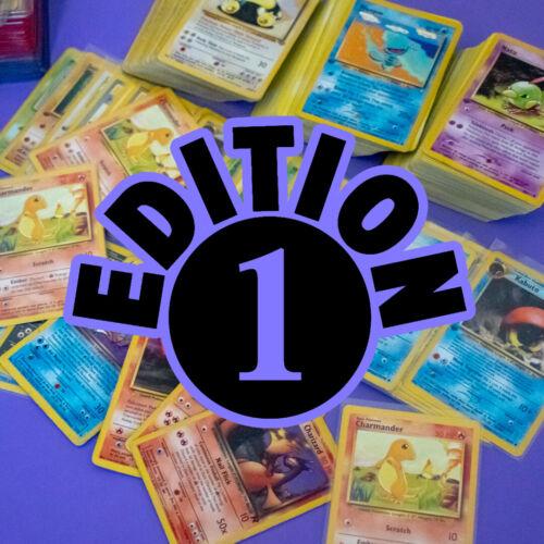 Pokemon 1st Edition Card Lot + Vintage Holographic [wotc Old Bundle Lot]