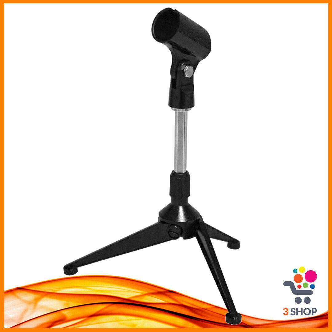 Asta microfonica per microfono da tavolo treppiede stand supporto richiudibile