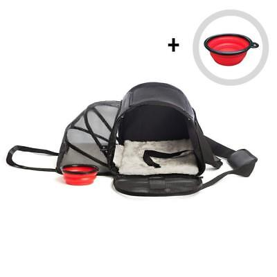 Pet Carrier for Dogs or Cats | Airline Approved Carrying Travel Bag Under Seat,
