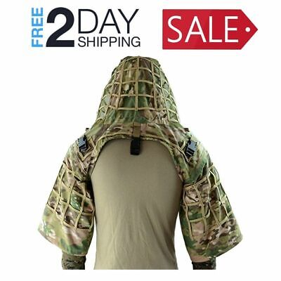Ghillie Suit Foundation Ripstop Viper Hood Camouflage Coat Scratch Proof Durable