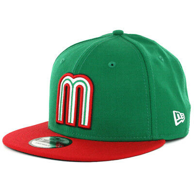 "New Era 9FIFTY World Baseball Classic ""WBC17 Mexico"" (KG-RD) Snapback Hat Cap"