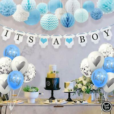 Sweet Baby Co. Baby Shower Decorations For Boy With It's A Boy Banner, - Boy Baby Shower Banners