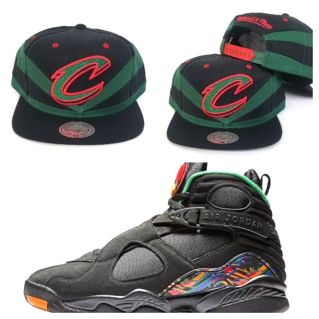 reputable site bb6b9 a0273 Details about Matching Mitchell & Ness Cleveland Cavaliers snapback Hat for  Jordan 8 Tinker