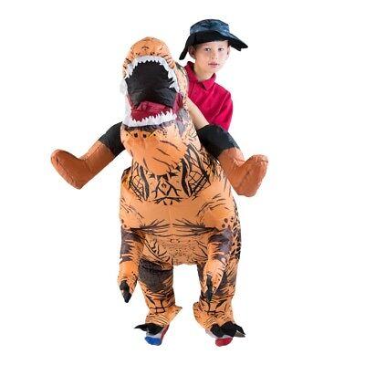 Kids Inflatable Deluxe Dinosaur T-REX Prehistoric Halloween Fancy Dress Costume