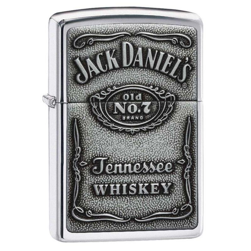 Zippo 250JD427 Windproof Lighter Jack Daniels Label-Pewter Emblem, Chrome