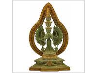 Avalokiteshvara Tara Buddha 32 cm 3,4 Kilo Messing Nepal Chenrezig Chen Rezig