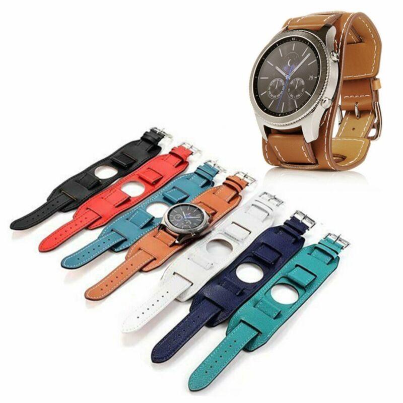 For Samsung Galaxy Watch 46mm Gear S3 Frontier Fashion Leath