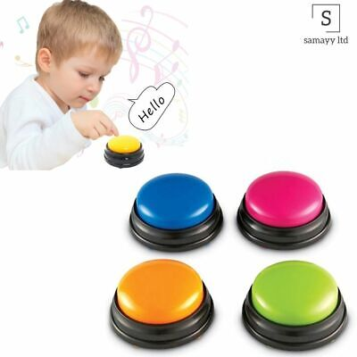 Talking Button Child Interactive Toy Phonograph Answer Buzzers Portable Recorder