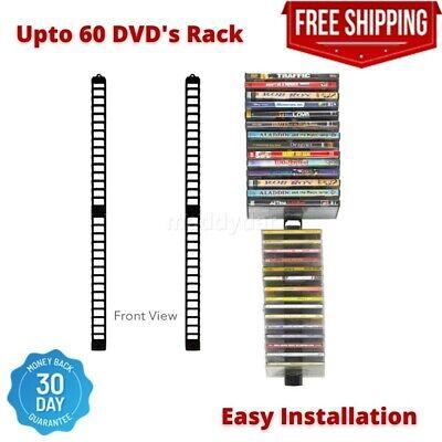 Video Game Storage Shelf DVD Media Wall Organizer Tower Rack Disc Holder Stand