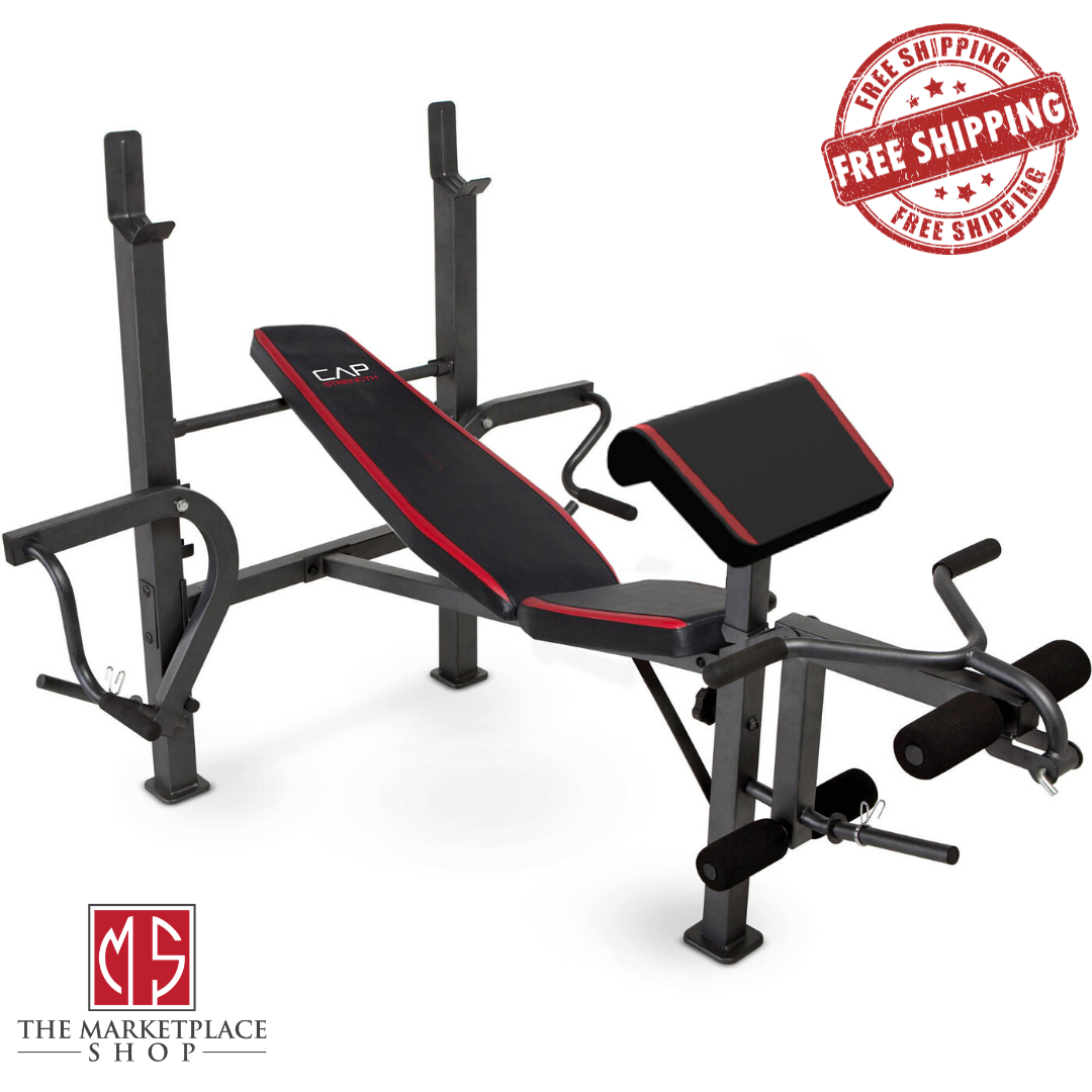 Weight Bench Adjustable Home Gym Workout Equipment Incline E