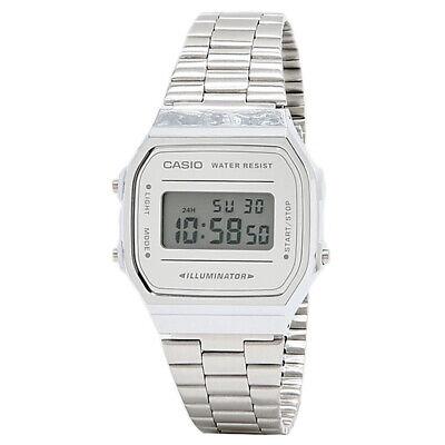Casio A168WEM-7VT Vintage Collection (Silver) Unisex Metal Digital Watch Collection Digital Unisex Watch