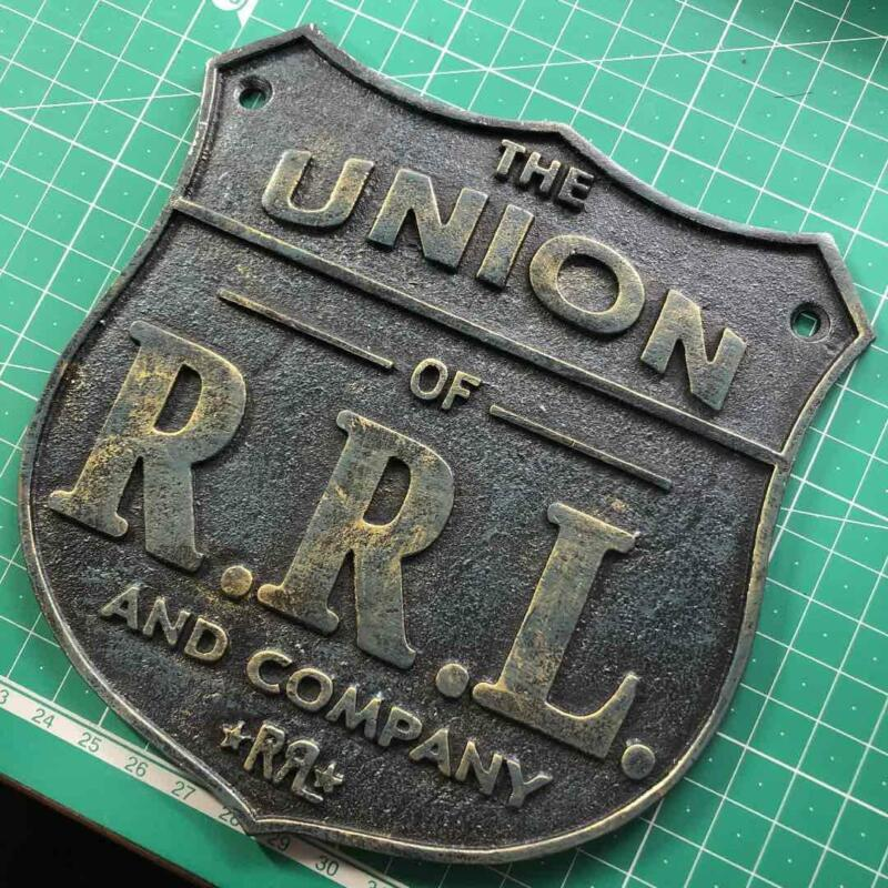 RRL Double RL Iron Plate Signboard Commemorative Plate Not sold in stores