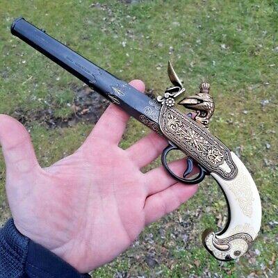 Denix Russian Flintlock Pistol Reproduction Non-Firing Authentic Details Weight