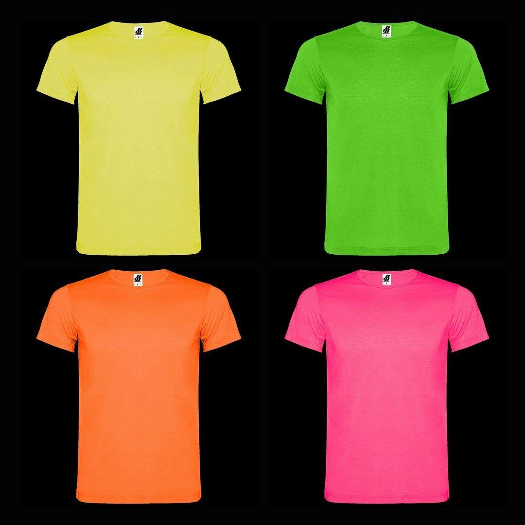 """nw® NEON Herren-Basic T-Shirt """"Kris"""", floureszierend, S-2XL, Baumwollfeeling"""