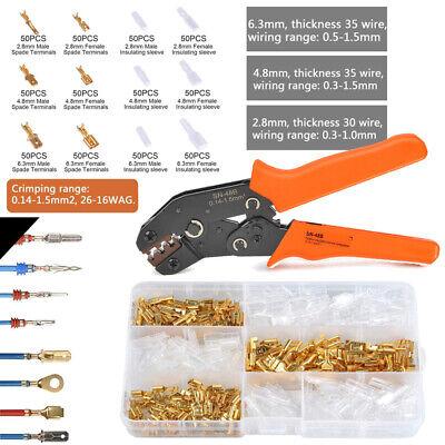 Crimping Pliers 600pcs Terminal Set Ferrule Crimper Tool 26-16awg 0.14-1.5mm C