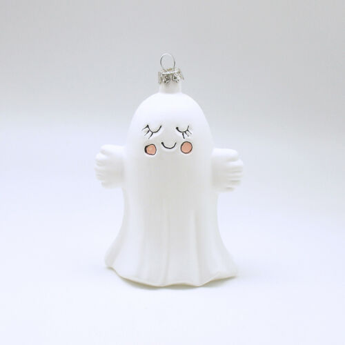 Halloween Decoration Ghost Glass Ornament