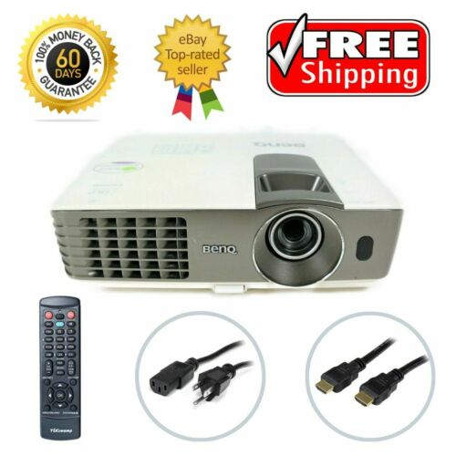 BenQ MX720 DLP Projector Refurbished 3500 ANSI HD 1080p HDMI Remote TeKswamp