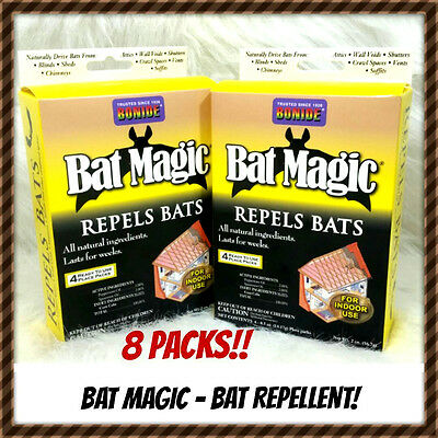 Bat Magic - BONIDE 876 BAT MAGIC REPELS BATS BAT REPELLENT 8 PACKS!! READY TO USE. NEW!