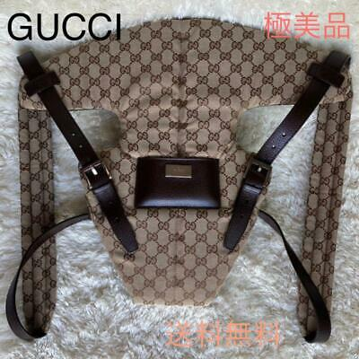 Rare Gucci GG Monogram Baby Carrier Brown Vintage