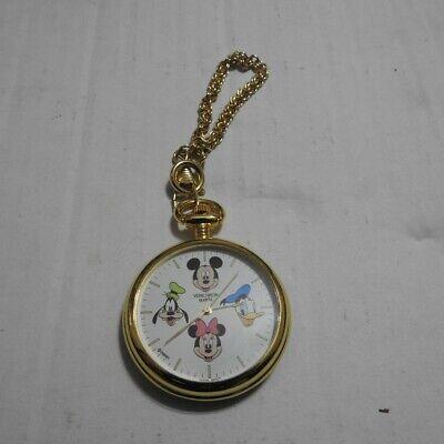 Disney Mickey Mouse Pocket Watch (Donald/Goofy/Minnie) New Vintage Free S&H!