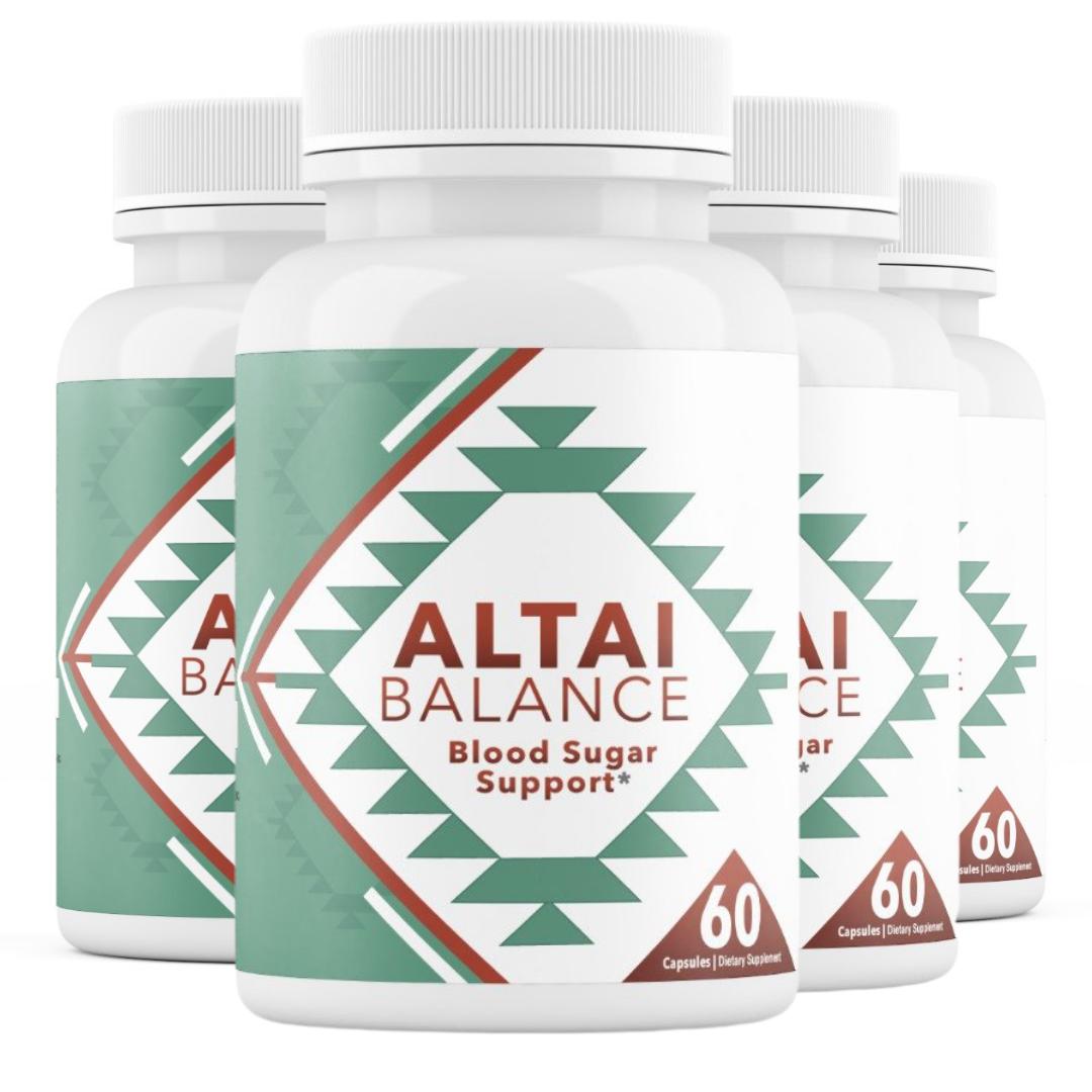 4 Bottles Altai Balance Supports Blood Sugar, Glucose Metabolism 60 Capsules