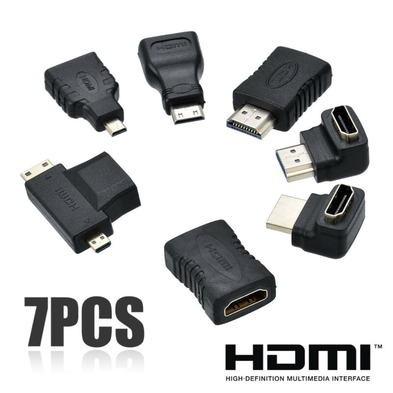7x HDMI Extension Adapter Converter Mini Micro Cable Connect