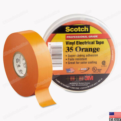 3m 35 Scotch Vinyl Electrical Color Coding Tape 12 In X 20 Ft Orange