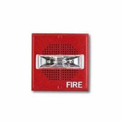 Nib Cooper Wheelock Et70-24mcw-fr Red Fire Alarm Strobe Speaker
