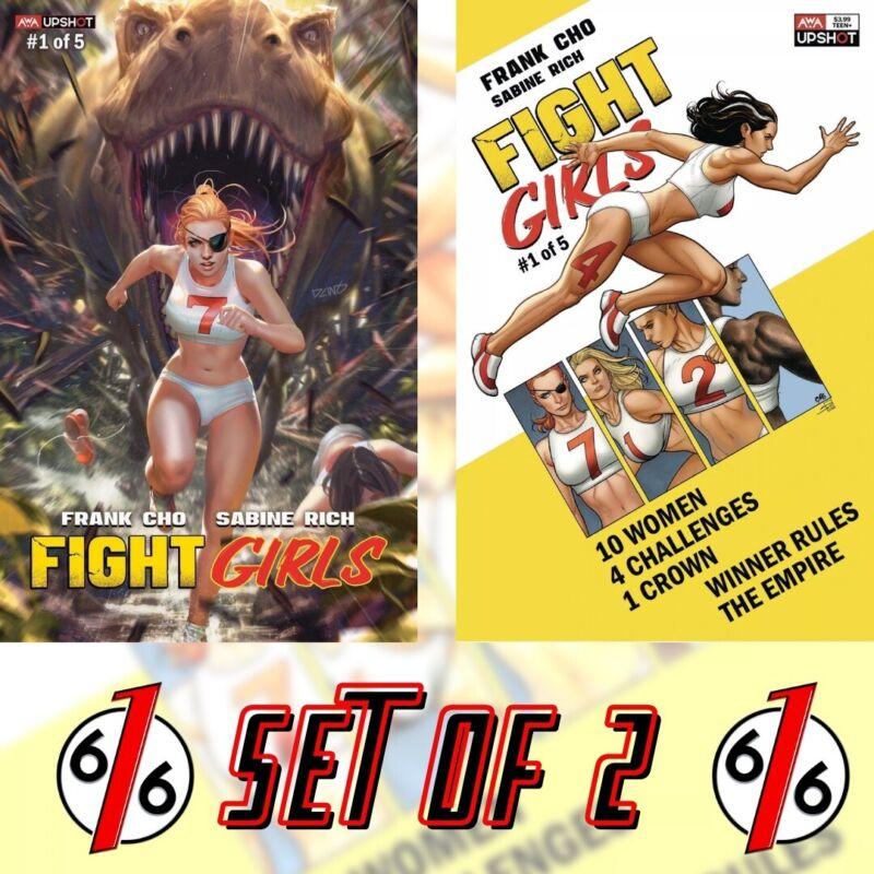 🚨🔥 FIGHT GIRLS #1 SET DERRICK CHEW 616 Variant & FRANK CHO Main Cover AWA