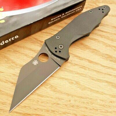 "Spyderco Yojimbo 2 Folding Knife 3.25"" CPM S30V Steel Blade Black G10 Handle"