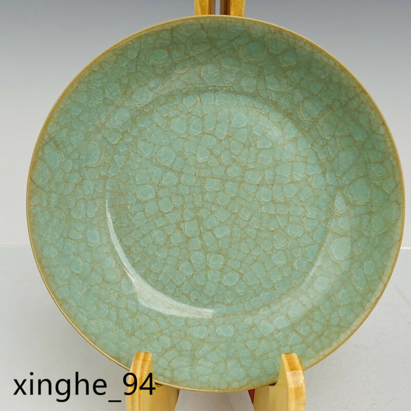 "6.5""Chinese old Song dynasty Porcelain ru kiln cyan glaze Ice crack Brush Washer"