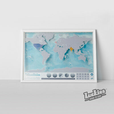 Scratch Map® of Oceans Scratch off World Map Poster by INVENTORS OF SCRATCH MAPS
