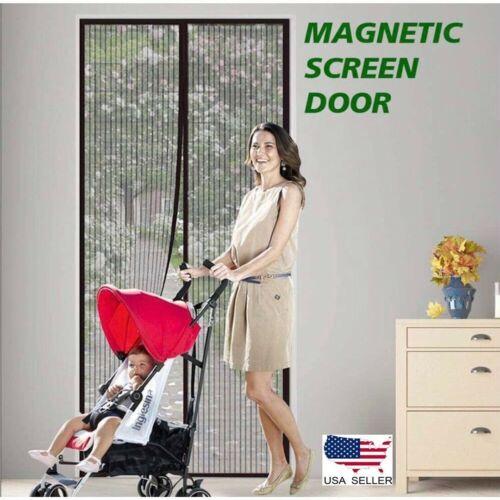 Screen Door Cover Magic Mesh Deluxe Magnetic Hands Free As Seen On TV style item