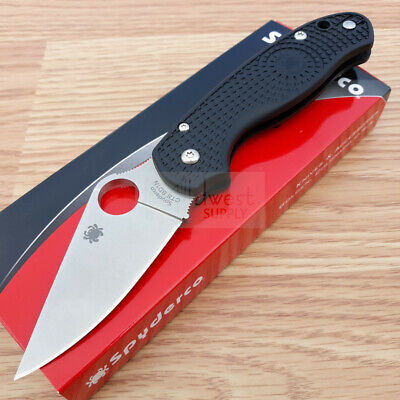 "Spyderco Para 3 Folding Knife 3"" Satin Finish CTS-BD1 Steel Blade FRN Handle"