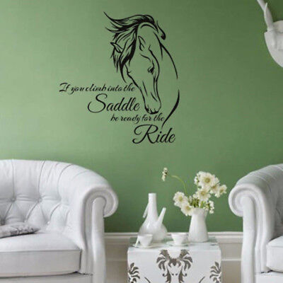 Horse Stickers Protection Decal Saddle Ride Living Room Wall Home Decor Sayings New