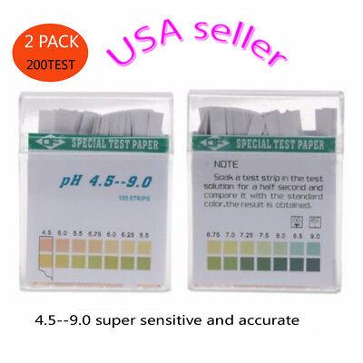 200 Ph Indicator Test Strips 4.5-9 Paper Litmus Tester Laboratory Urine Saliva