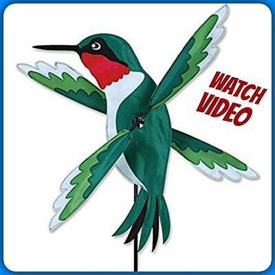 HUMMINGBIRD WHIRLIGIG WIND SPINNER 19