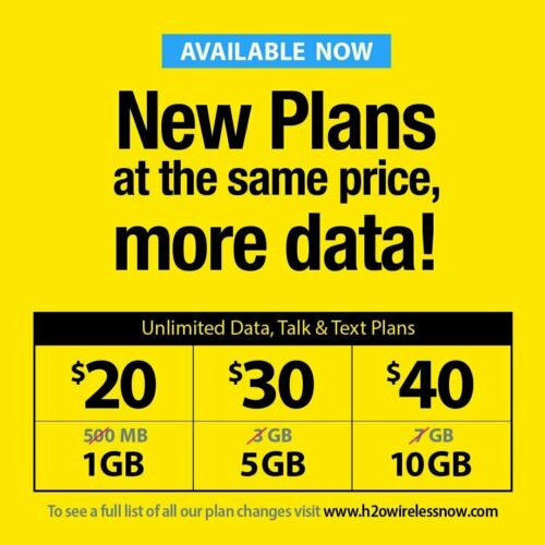H2O WIRELESS 🔥 $60 PRELOADED SIM CARD W/ 30 DAYS SERVICE 🔥UNLIMITED DATA🔥