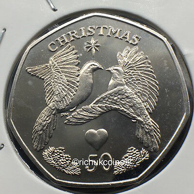 2006 IOM Xmas Diamond Finish 50p Coin without die marks