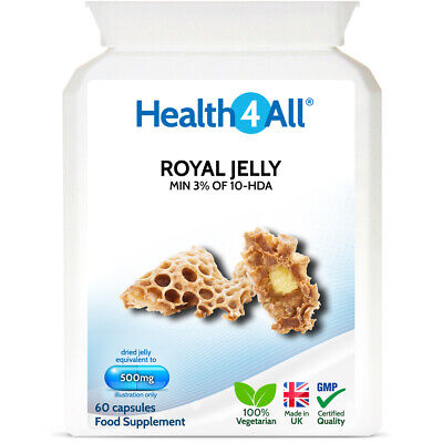 Health4All Royal Jelly 500mg Capsules   YOUNG SKIN   HIGH PRESSURE   CHOLESTEROL